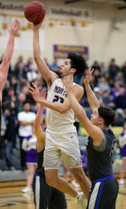 North Kitsap's Shaa Humphrey scored 27 points in the Vikings' 61-57 win over Olympic on Tuesday.