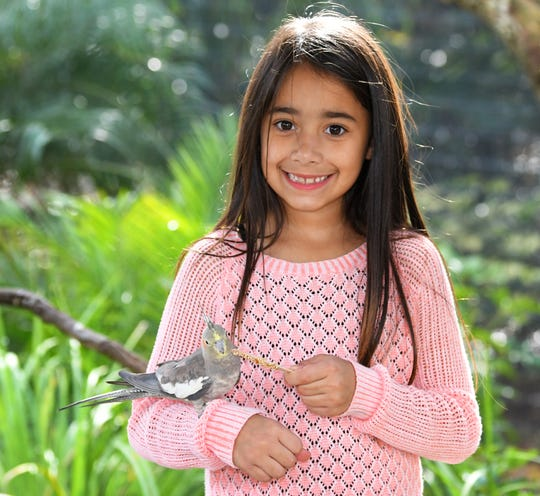 Kaylee Hernandez, 6, poses at the Brevard Zoo. She is the February Space Coast Parent Child of the Month.