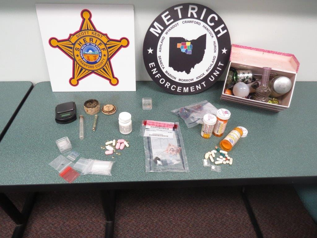 A METRICH raid Tuesday netted drugs, and cash in Galion, according to METRICH officials.