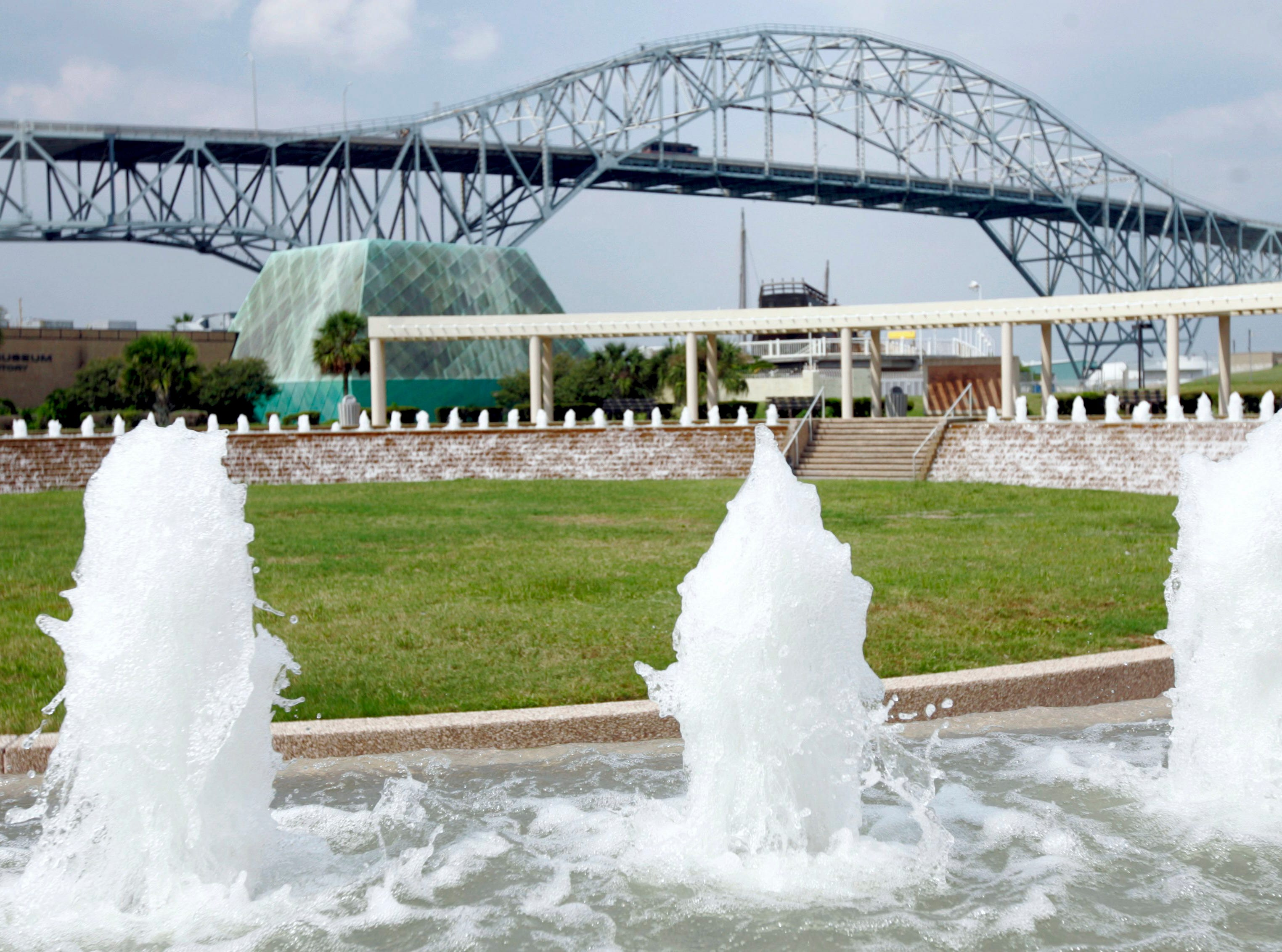 The Corpus Christi Watergarden at the Bayfront Arts and Science park on Sept. 26, 2008.