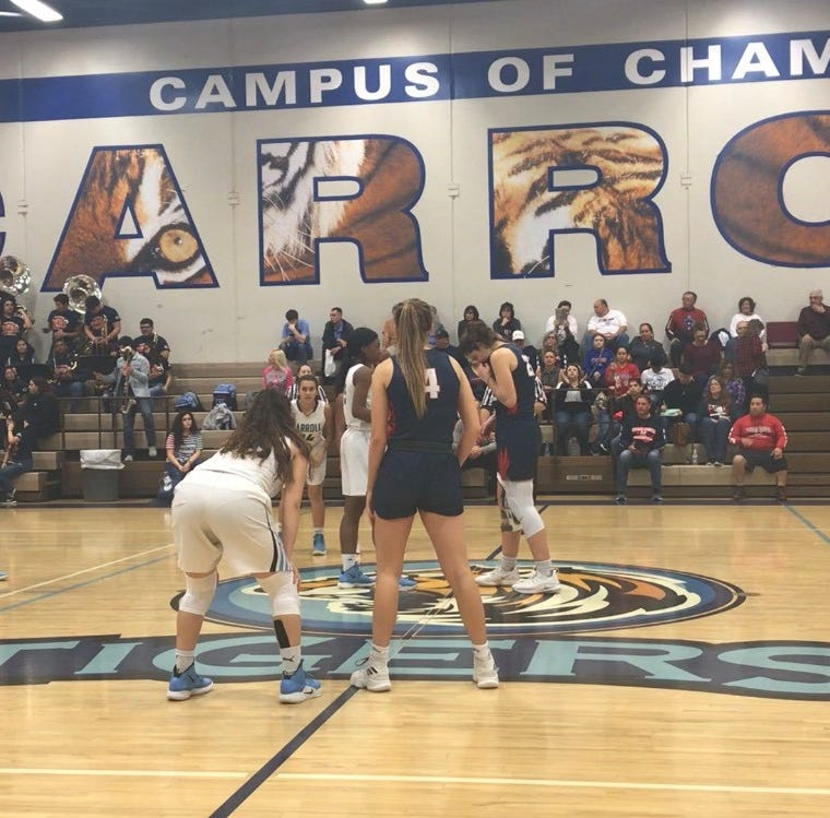 Here's how the Carroll girls basketball team topped Veterans Memorial with a buzzer beater
