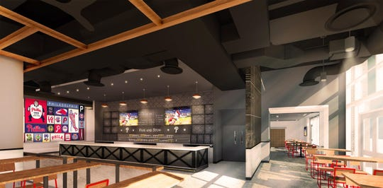 Phillies fans will have a new spot to hang out this season: The Pass and Stow dining area near the third base gate will be ready for the home opener.