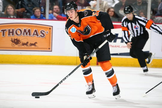 Phil Myers is in his second year as a pro with the Lehigh Valley Phantoms and the most NHL ready of the organization's defense prospects.