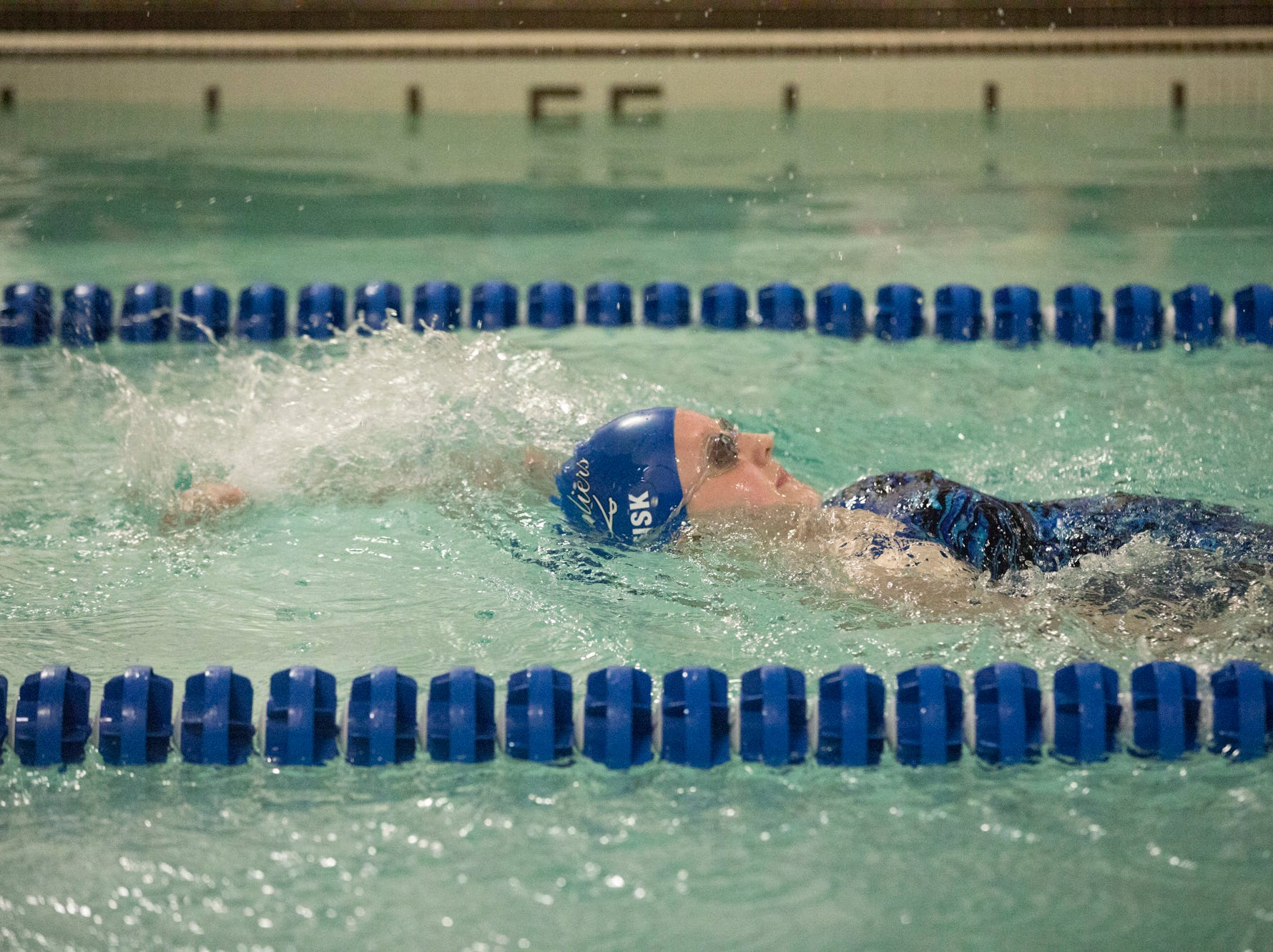 Chillicothe, Zane Trace, and Teays Valley swimmers competed at the Ross County YMCA on Tuesday, Jan. 22, 2019, in Chillicothe, Ohio.