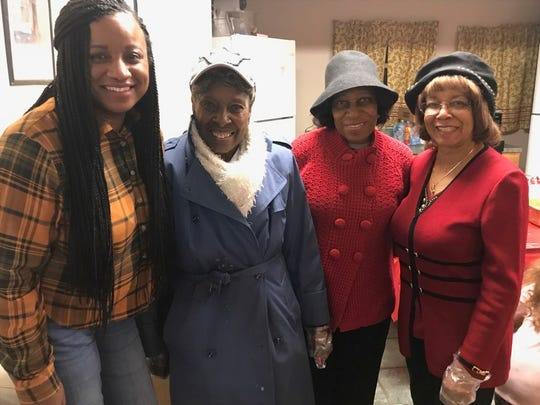 Franklin House manager Keisha Graham, Mary Barnes, Martha Ellis and Martha Turner-Riddick.