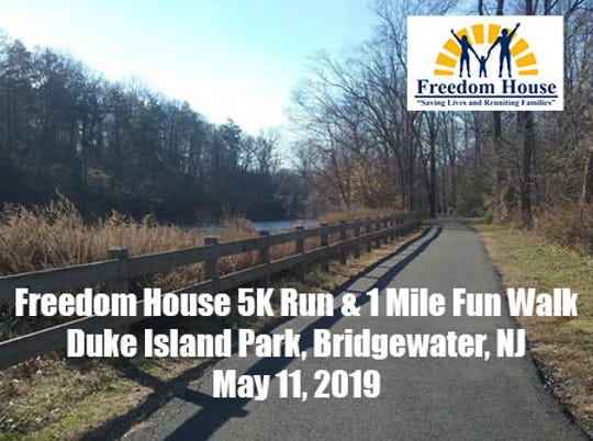 Registration is now open for the 6th Annual Freedom House 5k Run and 1 Mile Fun Walk, taking place Saturday, May 11, at Duke Island Park in Bridgewater.