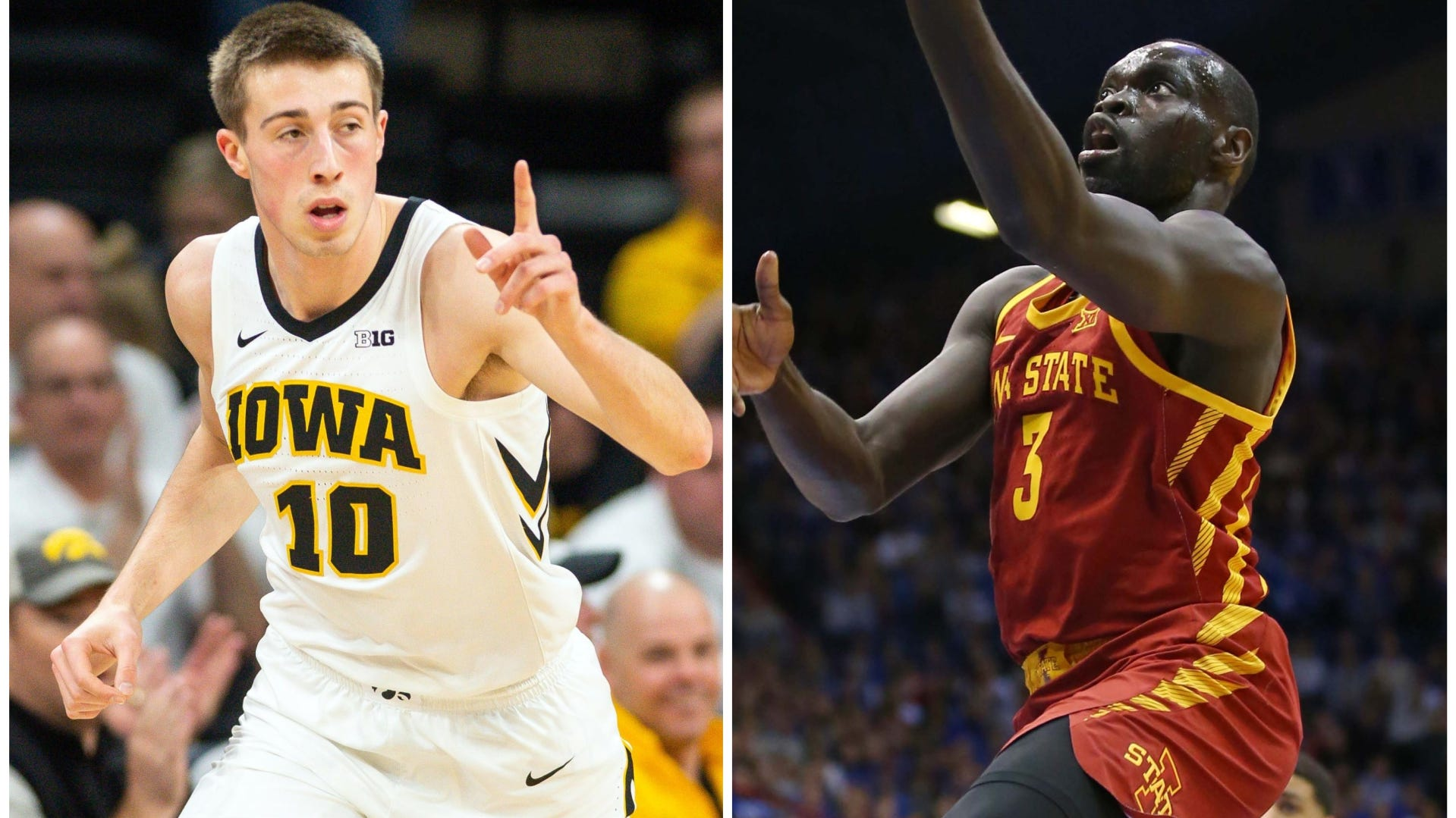 Iowa's Joe Wieskamp and Iowa State's Marial Shayok have helped lead the Hawkeyes and Cyclones into comfortable NCAA Tournament positions at the end of January.