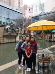 Ankeny fifth-grader Ryan Pruin, right, left his hat adorned with Cyclone players' autographs at a shop on the San Antonio River Walk when Pruin and his family visited for the Alamo Bowl in late December 2018. The hat was returned to Pruin through the power of social media and Jamie Pollard, Iowa State athletic director.