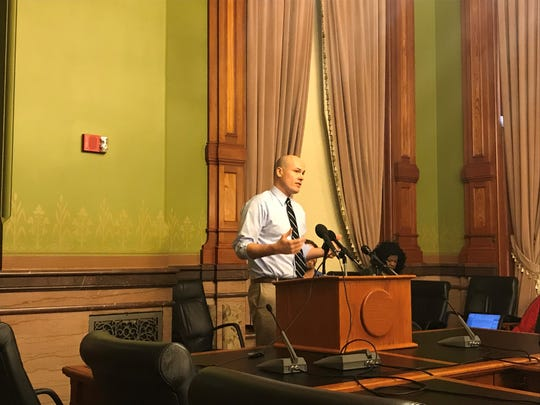 Democrat J.D. Scholten at the Iowa Capitol on Jan. 23, 2019