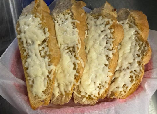 Garlic cheese bread from Abbie's in Bondurant.