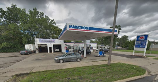 Marathon gas station on Michigan Avenue in Inkster.