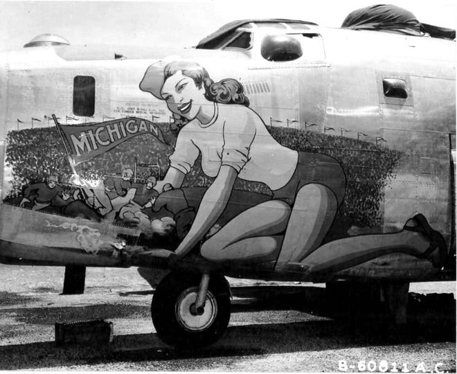 The Michigan B-24J Liberator at Willow Run Airport.