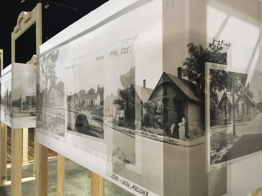 """The """"Black Bottom Street View"""" exhibition at the Detroit Public Library brings the Detroit neighborhood of Black Bottom back to life.Emily Kutil"""