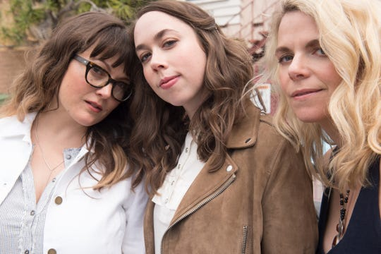 Sara Watkins, left, Sarah Jarosz and Aoife O'Donovan make up I'm with Her. It was an off-the-cuff performance at the Telluride Bluegrass Festival in 2014 that hinted at the creative riches awaiting the three women.