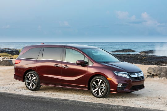24.4 percent of Detroit-area Honda Odyssey owners keep their vehicle at least 15 years., according to a study. 2019 model shown.