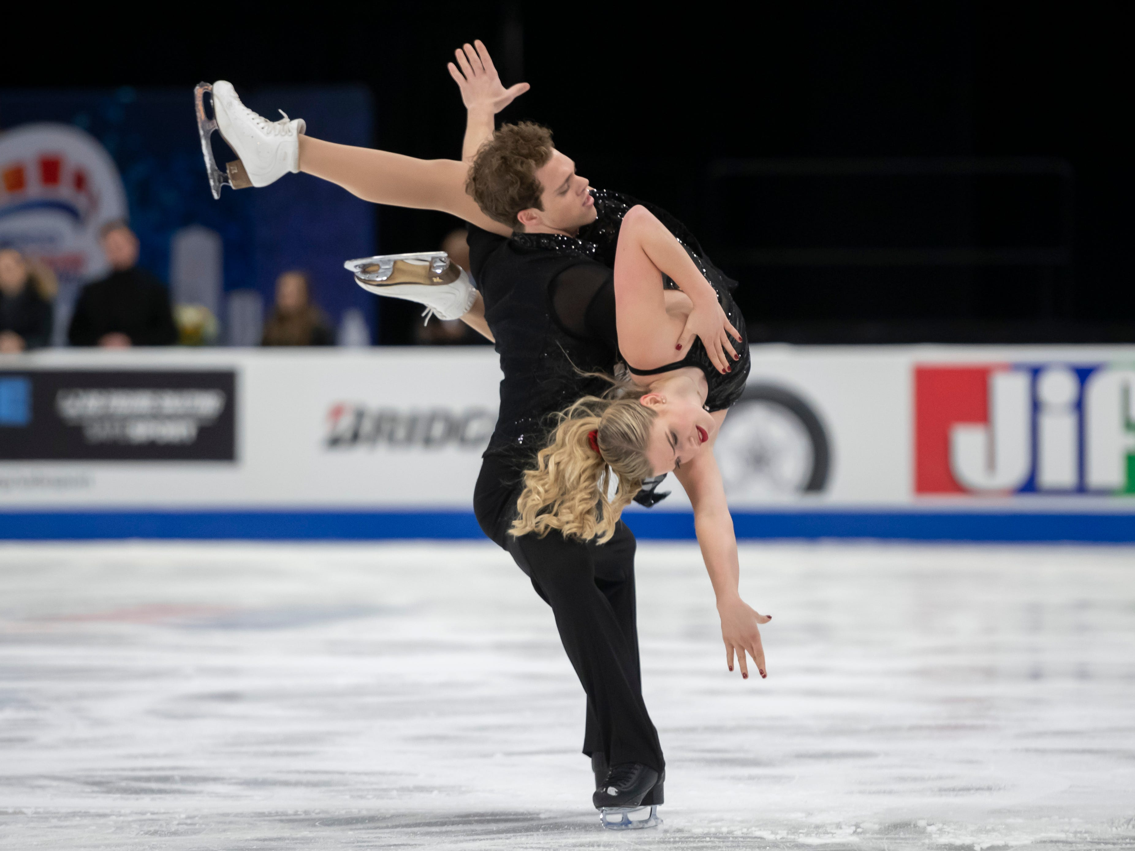 Rachel Parsons and Michael Parsons practice for the dance competition.