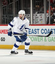 Tampa Bay Lightning forward Nikita Kucherov leads the NHL in points (78) and assists (56).