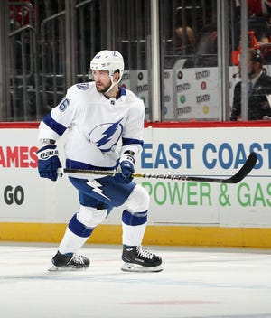 Tampa Bay Lightning forward Nikita Kucherov is a candidate for the Hart Trophy, which goes to the league MVP.
