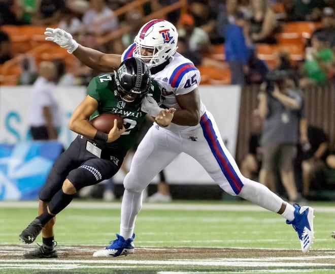 Louisiana Tech defensive end Jaylon Ferguson registered 17.5 sacks this season.