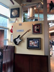 Kid Rock memorabilia at the Hard Rock Cafe at One Campus Martius building in Detroit.
