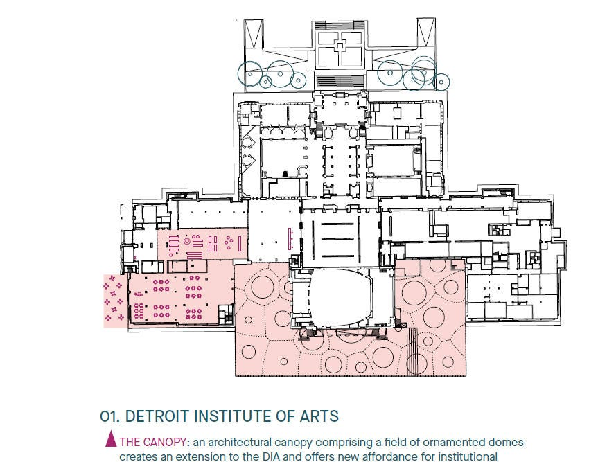 This diagram by the finalist team Agence Ter shows the proposed changes at the DIA.