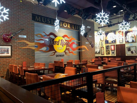 The last day for the Hard Rock Cafe in Downtown Detroit is Saturday.