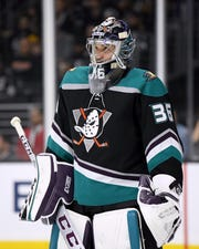 Anaheim Ducks goaltender John Gibson has faced 1,330 shots so far this season.