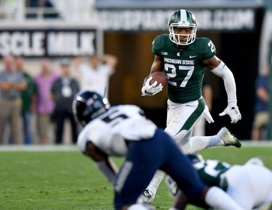 Michigan State safety Khari Willis (27) made 84 tackles as a senior.