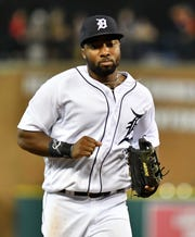 Tigers outfielder Christin Stewart.  played in 17 games as a rookie in 2018, hitting .267 with a pair of home runs.