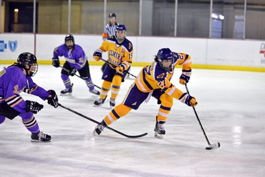 Elmira College's Katie Granato (27) is among the top scorers in NCAA Division III hockey.