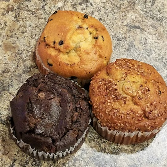 Enjoy giant (non-vegan) muffins as well as plant-based muffins, cinnamon rolls, cookies and more from Vegan Eats and Treats at Penny Lane.