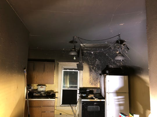 A fire began from unattended cooking left a two-family residence uninhabitable Monday night on Fourth Street, Fond du Lac.