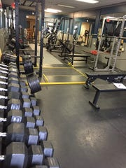 One of two rooms of Forged Fitness, 168 W Water St. The fully equipped fitness facility is for all fitness levels.