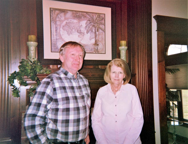 Larry and Sandy Sadlemeier remodeled an 1865 home restoring many features throughout the house.
