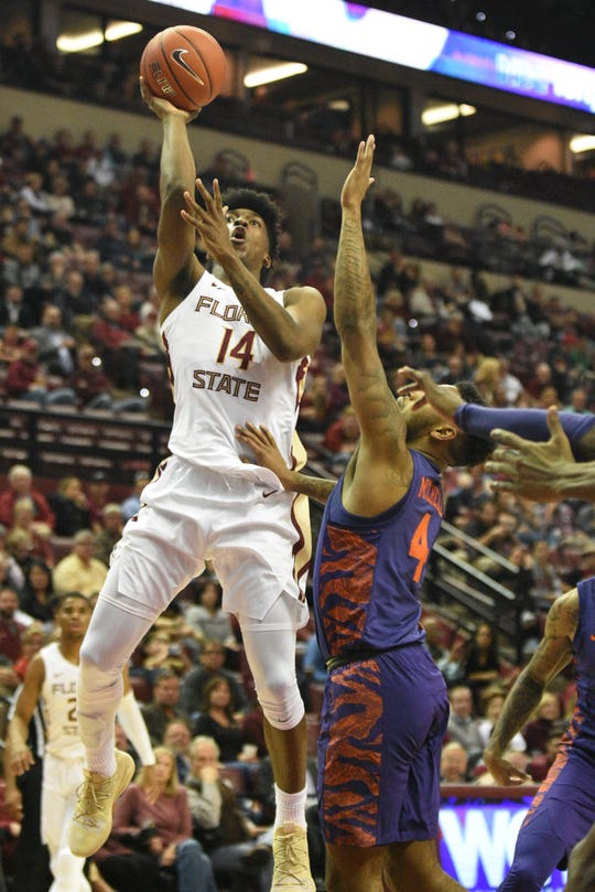 FSU senior guard Terance Mann scored nine points and grabbed eight rebounds during the Seminoles victory over Clemson on Tuesday.