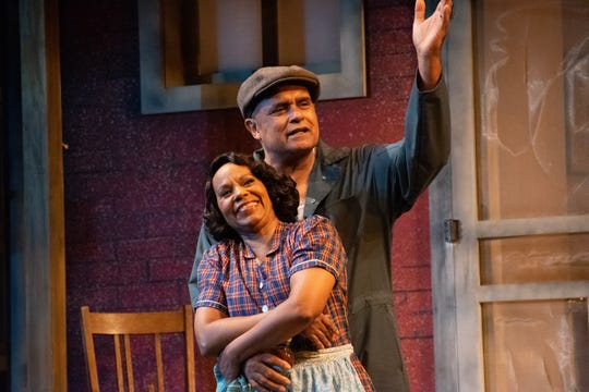 "Mujahid Abdul-Rashid and Gayle Samuels play Troy Maxson and Rose in Florida Rep's ""Fences."""