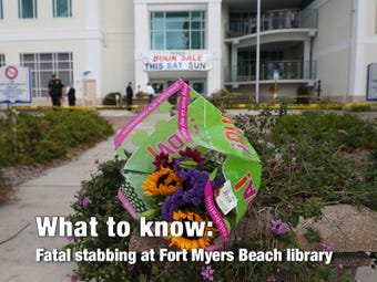 The Lee County Sheriff's Office is investigating a fatal stabbing Sunday, Jan. 20, 2019, at the Fort Myers Beach Public Library.