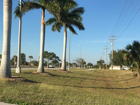 The Del Prado Linear Park includes fitness stations and a 10-foot wide, lit sidewalk between Pine Island Road and Kismet Parkway along Del Prado Boulevard in Cape Coral.