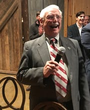 State Rep. Dwight Loftis celebrates his victory in the state Senate District 6 Republican primary.