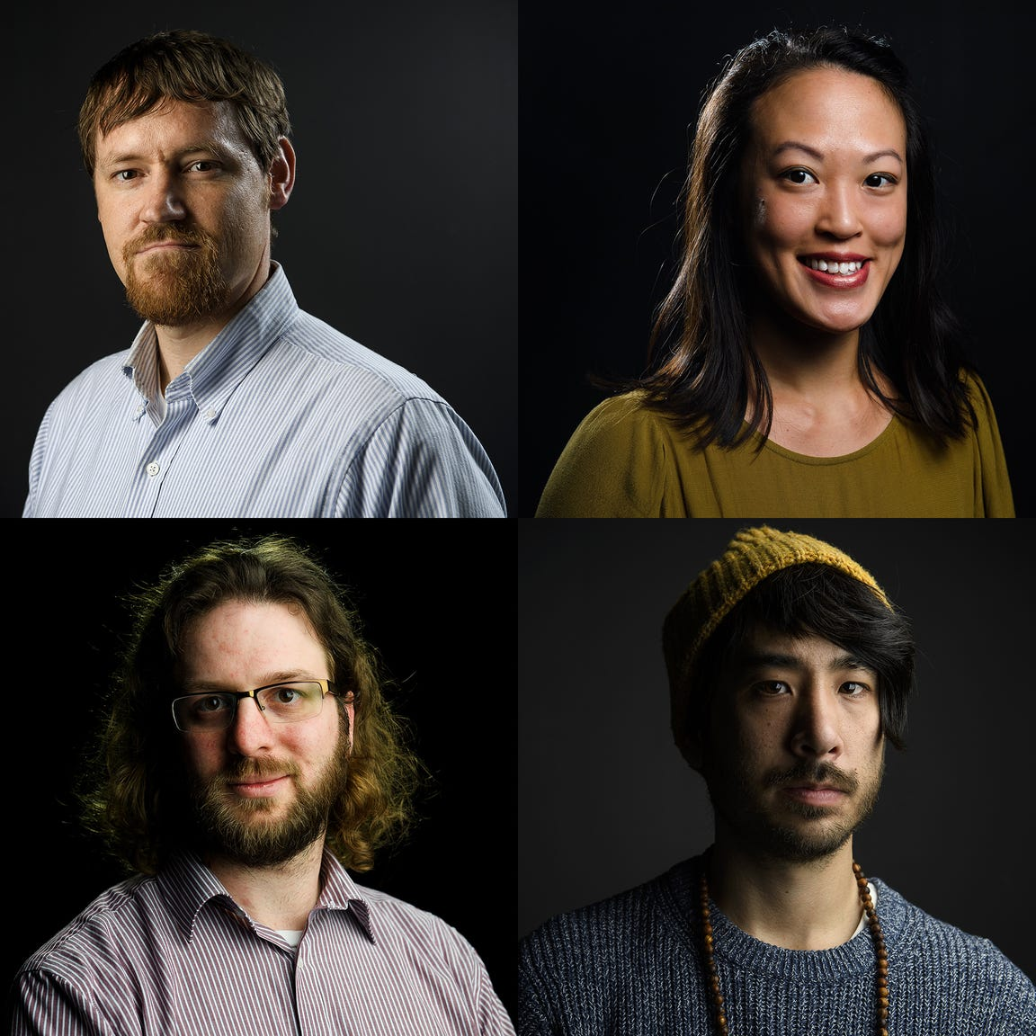 Journalists on the TAKEN project team in South Carolina: Nate Cary, Anna Lee, Mike Ellis and Josh Morgan.