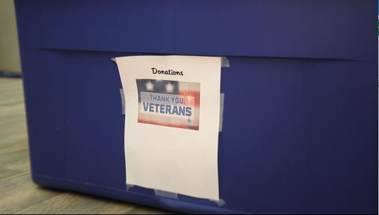 Falls Ink will be taking donations for homeless veterans all year round.