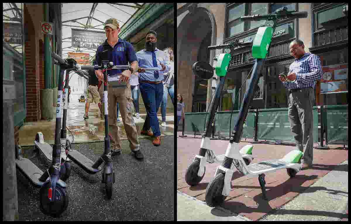 In 60 seconds: Bird and Lime electric scooters