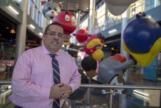 """Orestes Hernandez, executive director of the Mascot Hall of Fame in Whiting, Ind., extolls the virtue of them: """"Mascots don'tget traded. Players get injured, traded, retireand new players come in. The mascot is always there, the face of the franchise."""""""