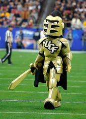 UCF mascot during the Fiesta Bowl NCAA college football game against LSU, Tuesday, Jan. 1, 2019, in Glendale, AZ.