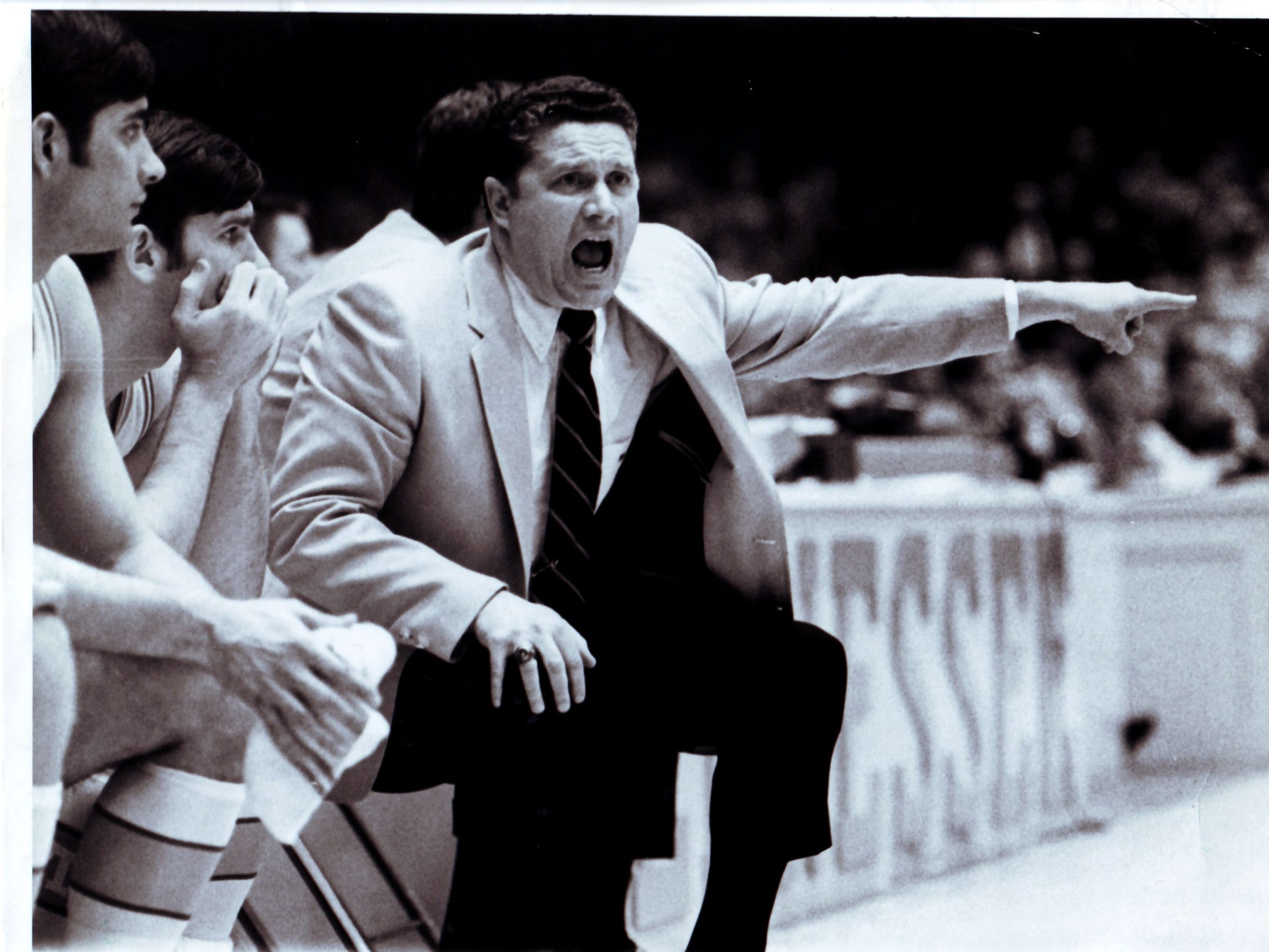 University of Tennessee basketball Coach Ray Mears in action on Feb. 17, 1970.