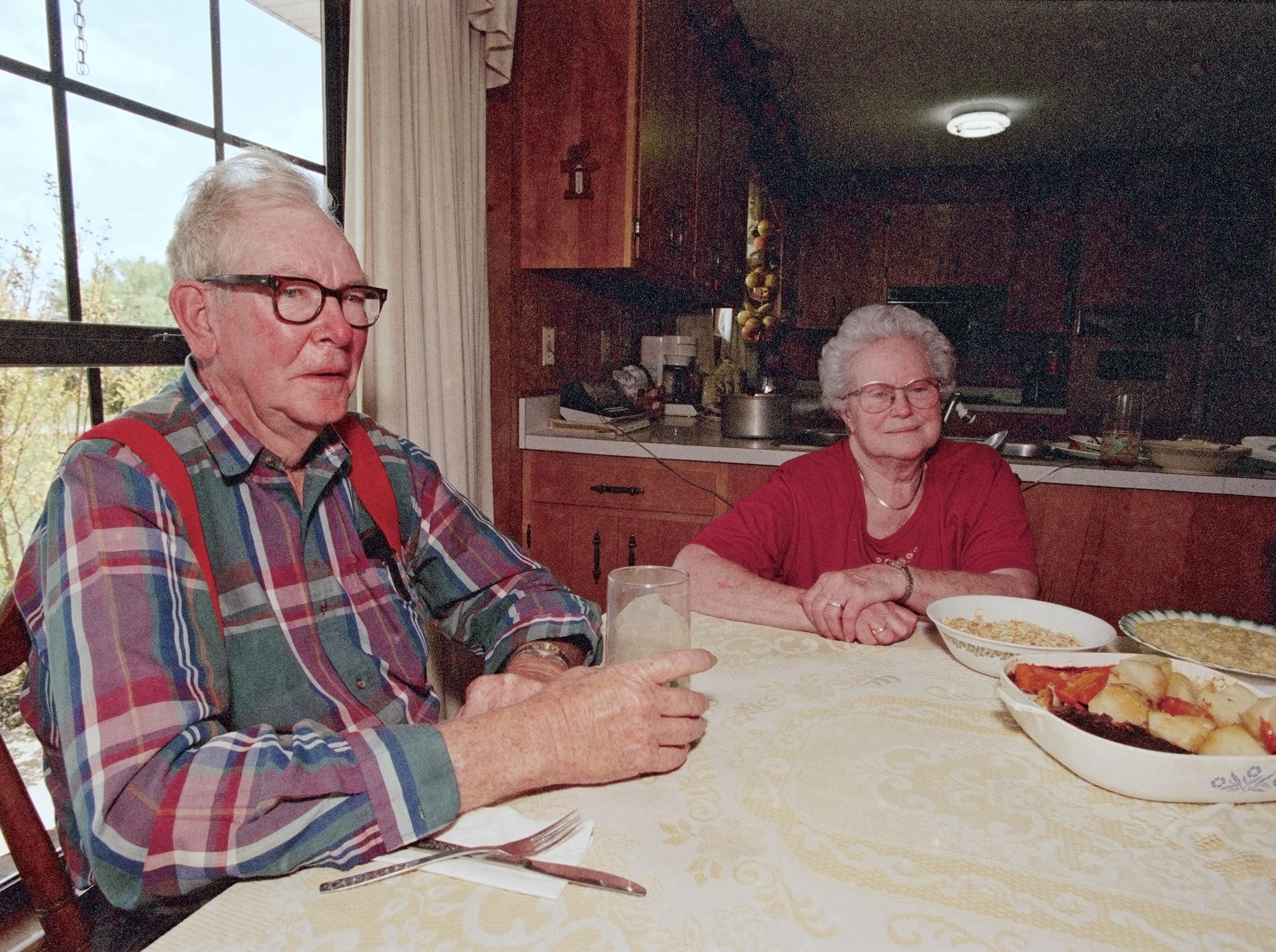 Richard and Hazel Head, the parents of Lady Vol Coach Pat Summitt, are pictured on May 2, 1996 at their home in Henrietta, Tenn.
