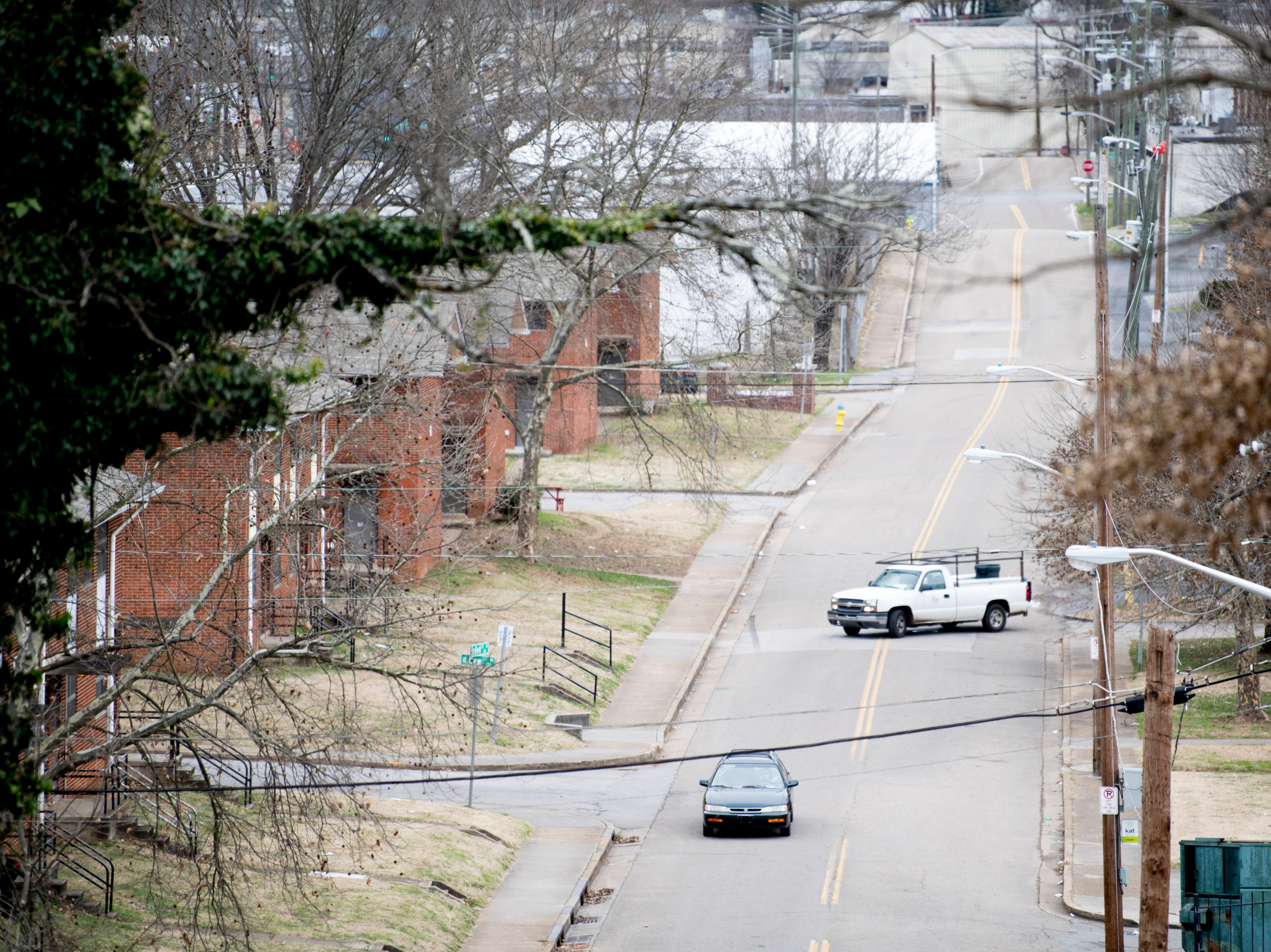 A view down South Bell Street in Austin Homes in Knoxville, Tennessee, on Wednesday, January 23, 2019. Knoxville's Community Development Corporation (KCDC) plans a revitalization of the site into a residential neighborhood with potential for affordable, workforce and market-rate housing units, as well as other appropriate non-residential uses.