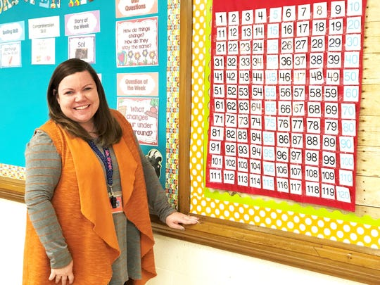 """""""I want my students to understand that her end of the deal is loving, caring for, and teaching them to the best of my ability, no matter what,"""" said Jenny Bryan, second grade teacher at Shannondale Elementary."""