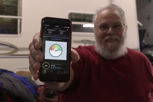 Tipmont member and retired lineman Don Braun was the first customer to test out Tipmont's 250 mbps broadband internet service.