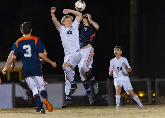 St. Thomas More and Beau Chene's boys soccer team battled it out for the district championship on Tuesday in Prairie Basse.